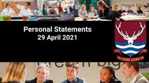 Personal statements april 2021